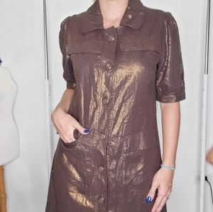 Metallic Brown coat-like dress